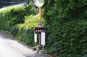沓掛駅~青峰山旧道登口の途中