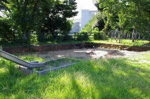 遺跡の発掘調査(城山児童公園)