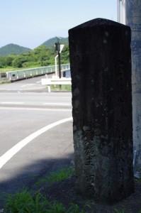 道標(鳥羽市岩倉町 杉ヶ瀬バス停付近)
