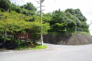 いかだ荘への坂道(的矢)