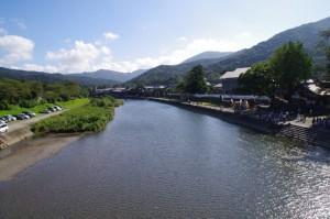 浦田橋からの五十鈴川上流