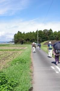 下外城田小学校前から小社神社へ