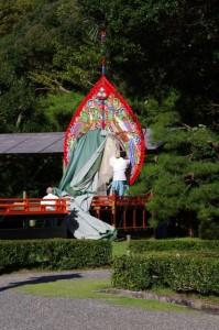 神楽祭の準備