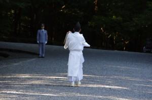 秋季皇霊祭遥拝(内宮)