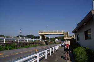 片山橋(雲出川)付近の歩道橋