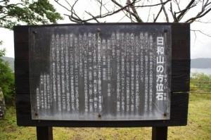 方位石の説明板(鳥羽の日和山)