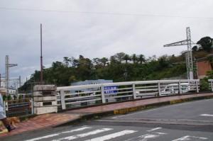 岩崎大橋から望む鳥羽城跡