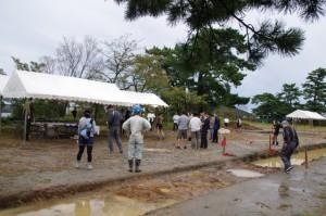 鳥羽城跡発掘現場 103