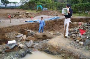鳥羽城跡発掘現場 112