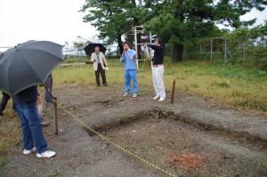 鳥羽城跡発掘現場 121