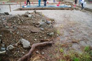 鳥羽城跡発掘現場 126