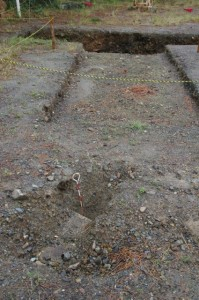 鳥羽城跡発掘現場 133