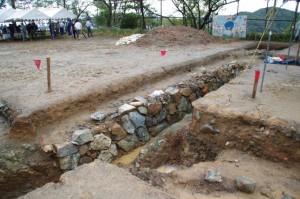 鳥羽城跡発掘現場 141