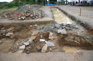 鳥羽城跡発掘現場 142