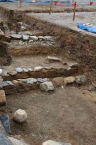 鳥羽城跡発掘現場 154