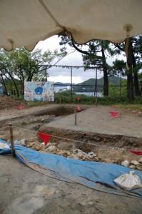 鳥羽城跡発掘現場 177