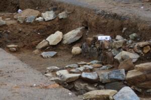 鳥羽城跡発掘現場 179