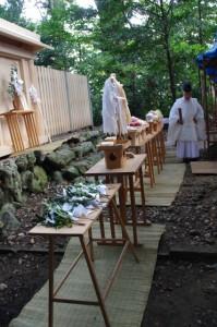 上棟祭 切麻散米(御薗神社)