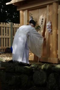 上棟祭 上棟之儀(御薗神社)