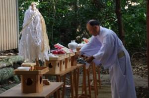 上棟祭 玉串奉奠(御薗神社)