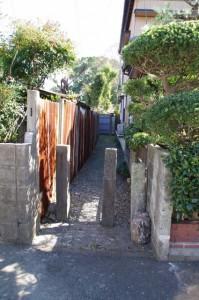 等観寺への脇道(西世古の途中)