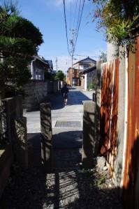 等観寺への脇道(等観寺から西世古へ)