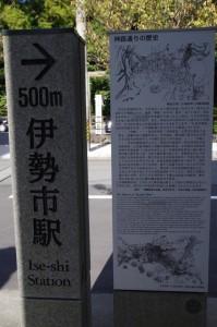 神路通りの歴史(説明板)