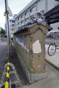 御師 三日市大夫邸跡の土塀