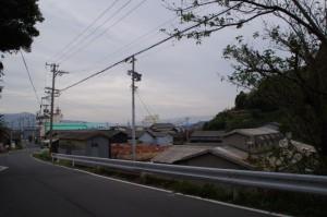 答志島 和具の町の遠景