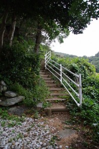 大日如来尊への階段