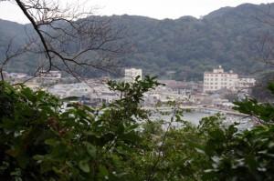九鬼嘉隆の首塚付近からの風景