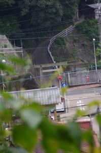 大山祗神社を遠望(日和山(鳥羽)への階段より)