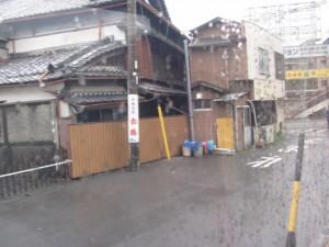 バス乗車後の車窓(宇治山田駅前)