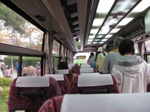 バス車内(田丸城跡)