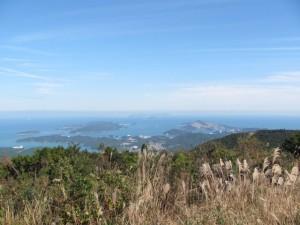朝熊ヶ岳山頂からの望む鳥羽方面