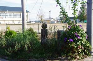 津市立川合小学校の校庭の角