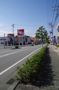 中川駅西交差点から常念寺前交差点へ