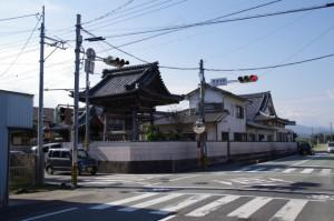 コースマップ(580)地点、常念寺前交差点