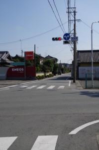 コースマップ(2710)地点、須賀領交差点