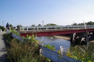 巡見橋(三渡川)付近