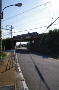 コースマップ(7340)地点、近鉄山田線の高架