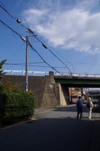 古川水神付近の高架