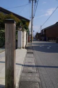 本川井町の町名標付近