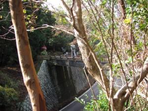 伊勢志摩スカイラインに架かる清水橋- 宇治岳道