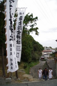 前の浜から海士潜女神社へ(二船祭)