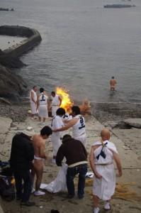 他の乗り手も垢離とり(二船祭)