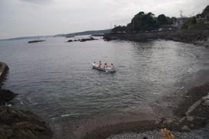 里谷の船が海へ(二船祭)