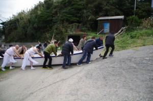 船の片付け (二船祭)