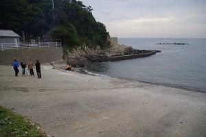 競漕終了後の前の浜(二船祭)