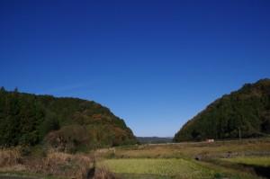 西山橋(三谷川)から初瀬街道への途中